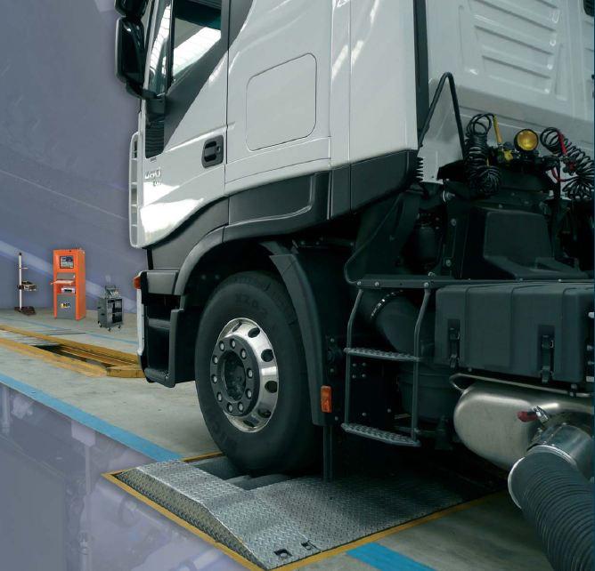 Linea revisione veicoli pesanti